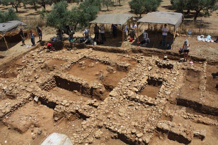 Bei den Ausgrabungen in Iklaina...