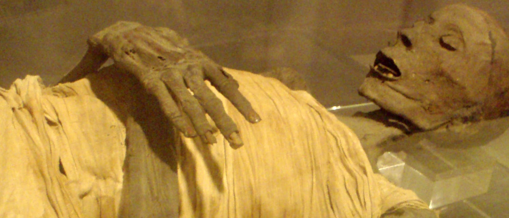 Altägyptische Mumie eines wohlhabenden Mannes der Saite-Periode