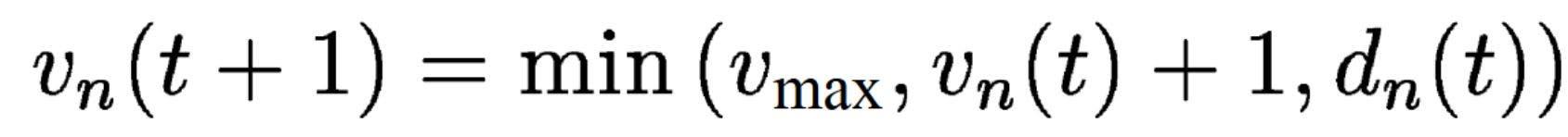 Die Formel hinter dem Nagel-Schreckenberg-Modell