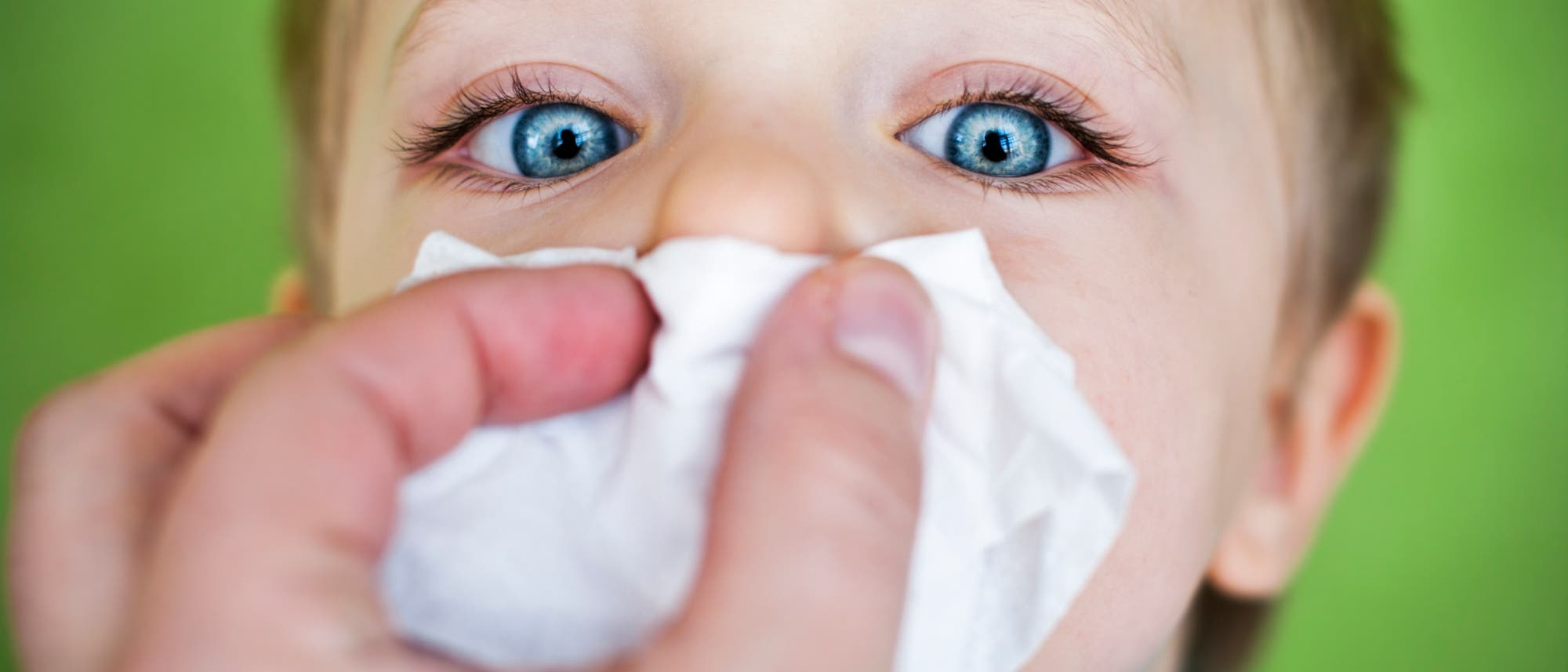 Kind bekommt Nase geputzt
