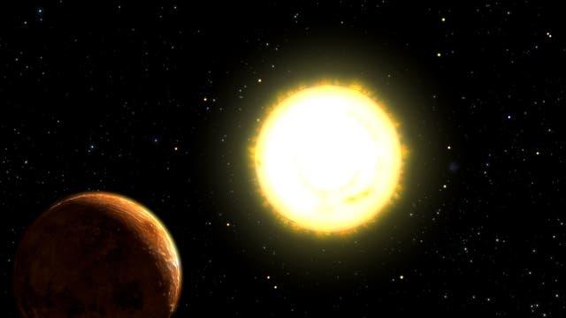 55 Cancri mit Planet
