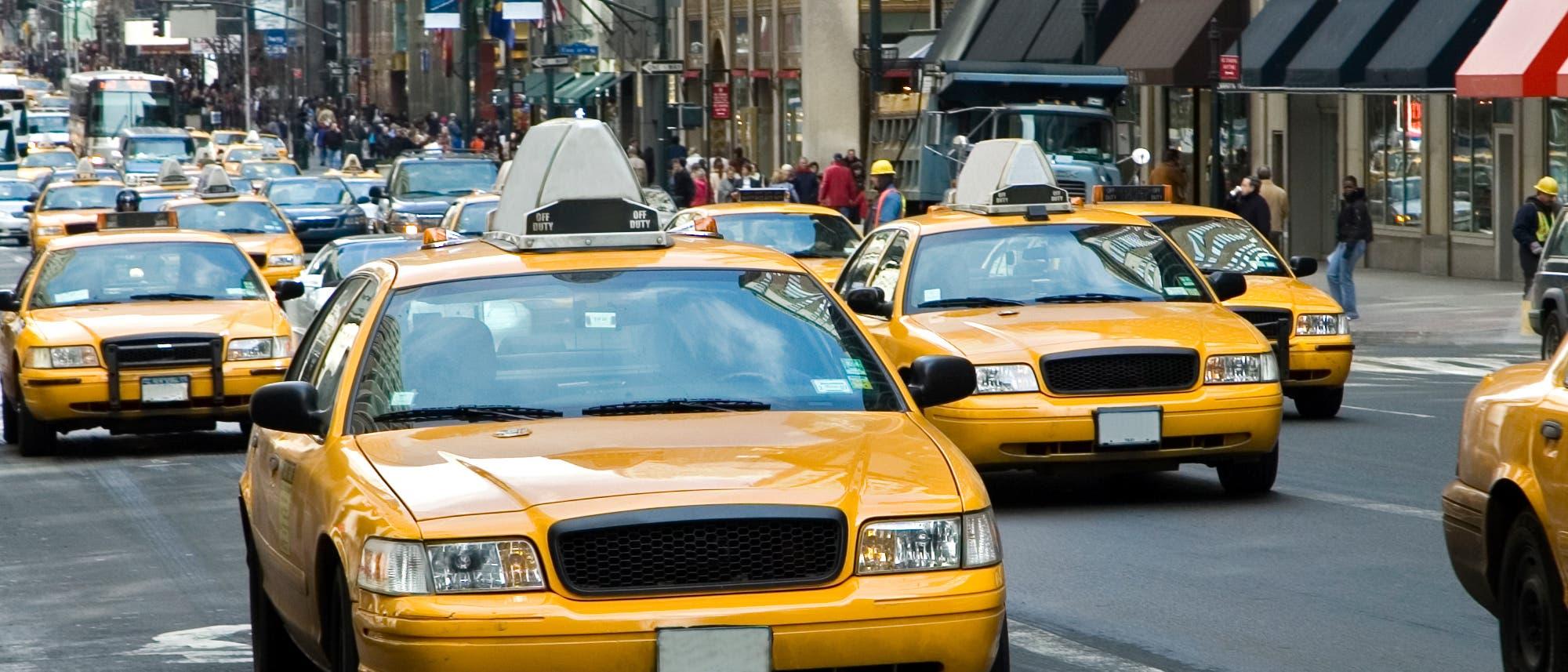 Typische New Yorker Taxis