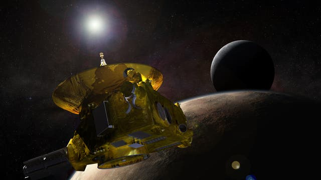 New Horizons passiert Pluto (künstlerische Darstellung)