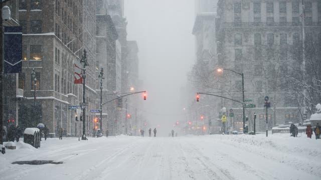 Schnee in Manhattan