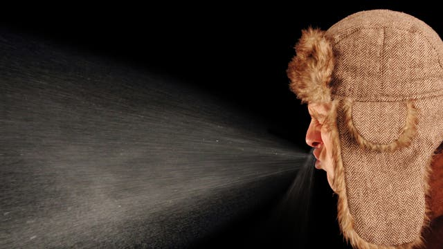 Millionen winzigster Tröpfchen werden aus Mund und Nase beim Niesen katapultiert - und tragen ihre Virenlast in die Welt hinaus.