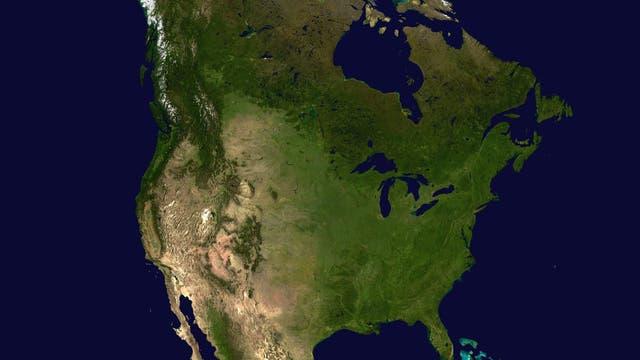Satellitenbild von Nordamerika