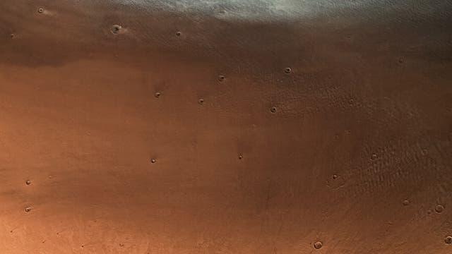 Mars von Norden nach Süden