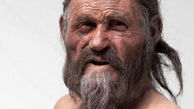 Rekonstruktion des Gletschermanns Ötzi