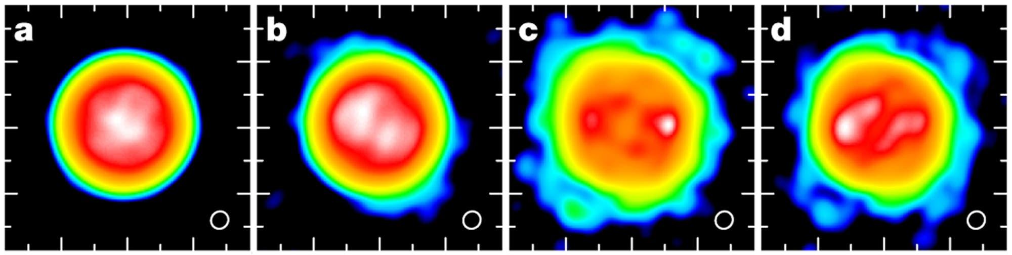 Die Oberfläche und Atmosphäre des Roten Überriesen Antares