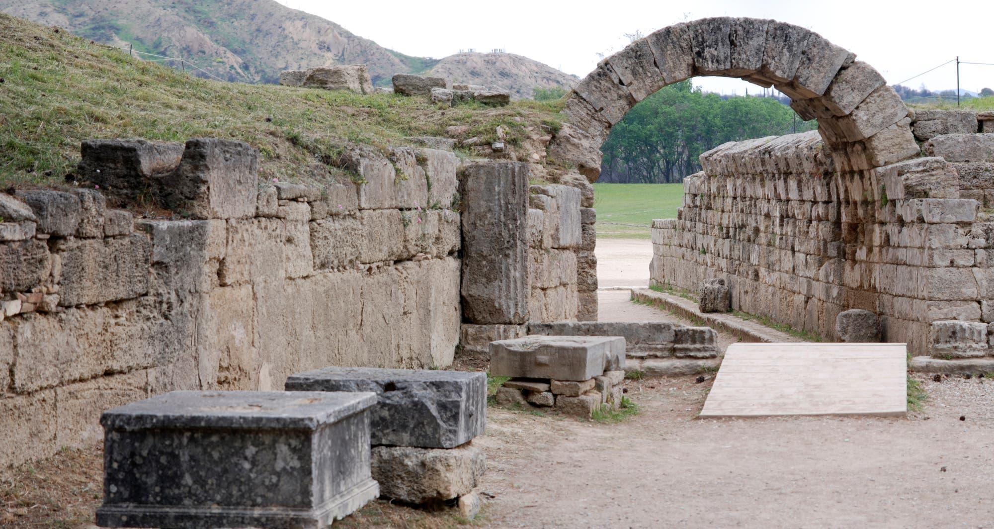 Podeste der Zanes-Statuen