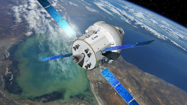 Künstlerische Darstellung der US-Raumkapsel Oroin