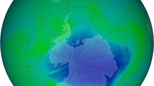 Ozonloch im Dezember 2007