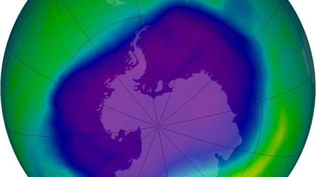 Das antarktische Ozonloch in seiner größten Ausdehnung