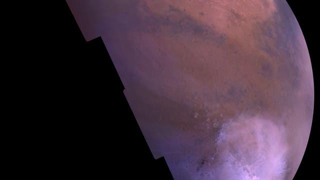 Die Südhalbkugel des Mars im Winter