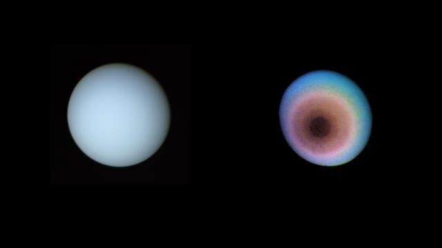 Uranus in Echt- und Falschfarben