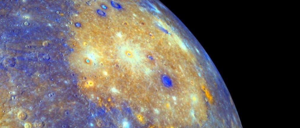 Das Caloris-Becken auf Merkur
