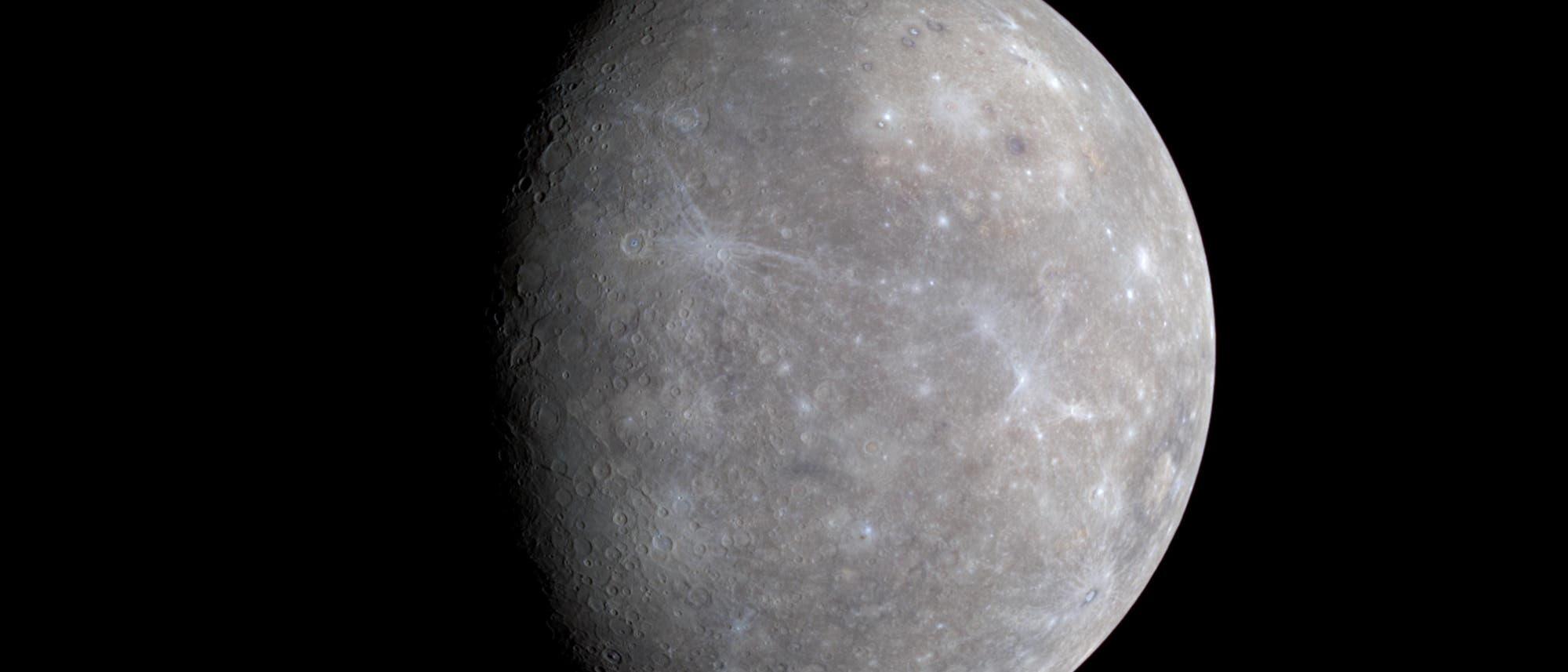 Merkur in annähernd echten Farben