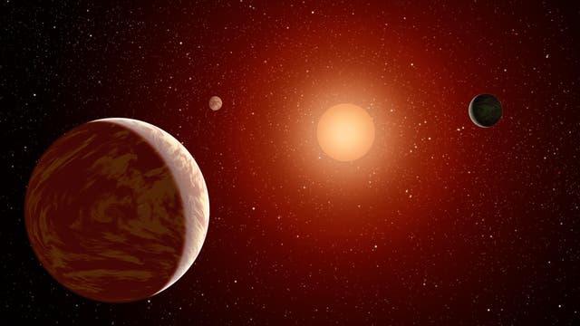 Symbolbild: Wenn sich Sterne Planeten einverleiben, werden sie roter