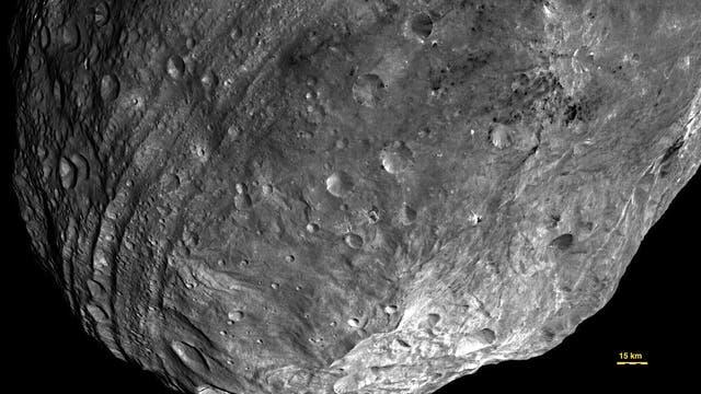 Die südliche Hemisphäre von Vesta