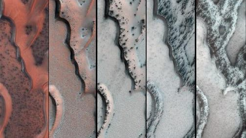Sanddünen am Marsnordpol