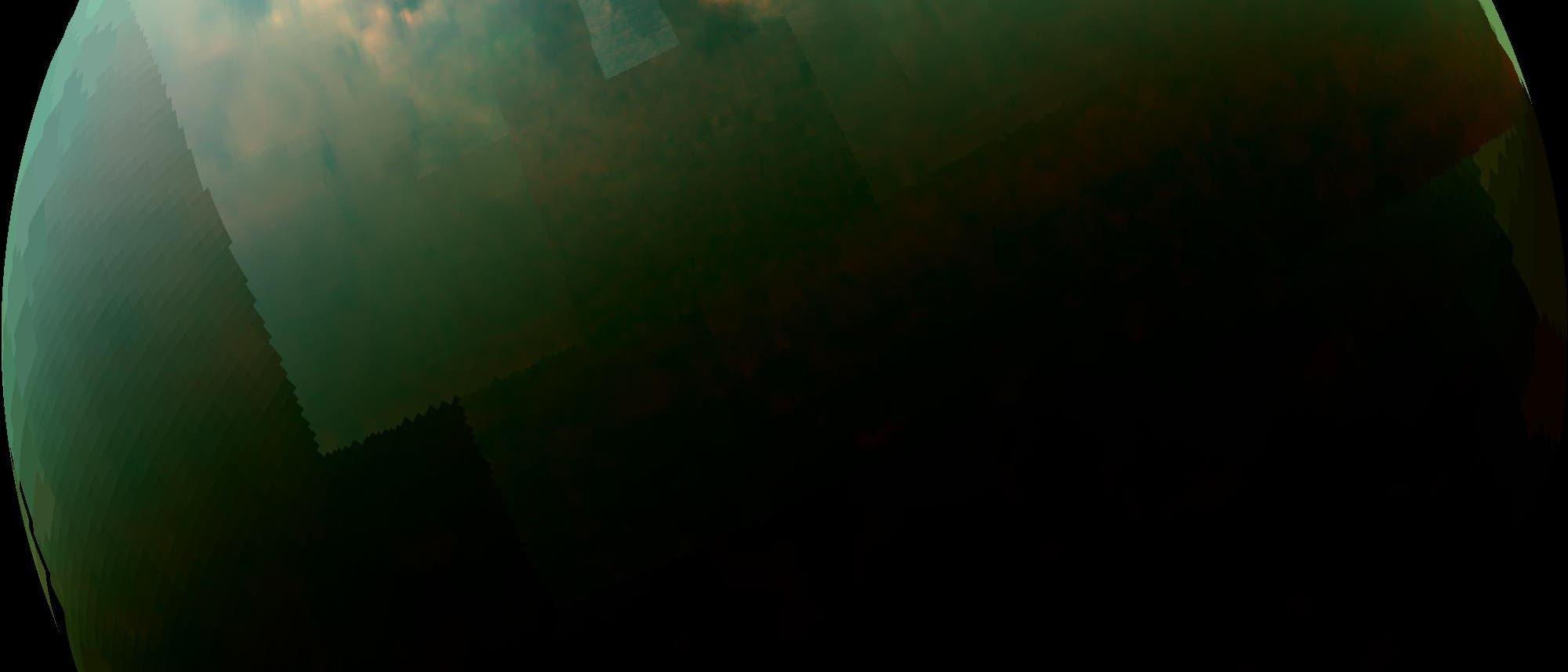 Lichtreflektion auf Flüssigkeit an der Titanoberfläche