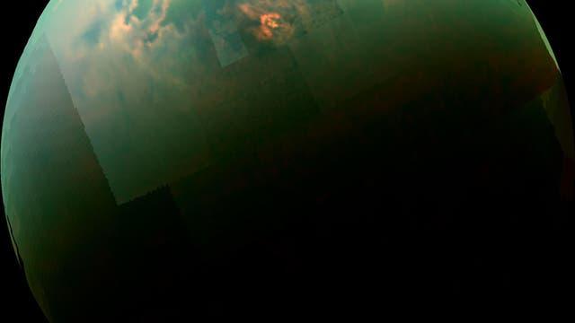 Sonnenreflexion auf dem Titan