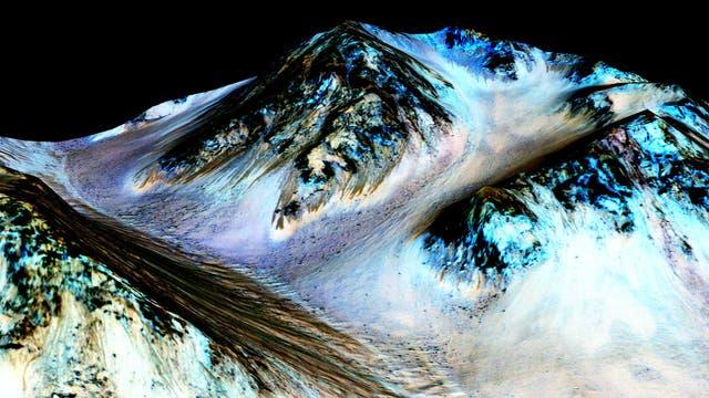 Modellierte Marsoberfläche