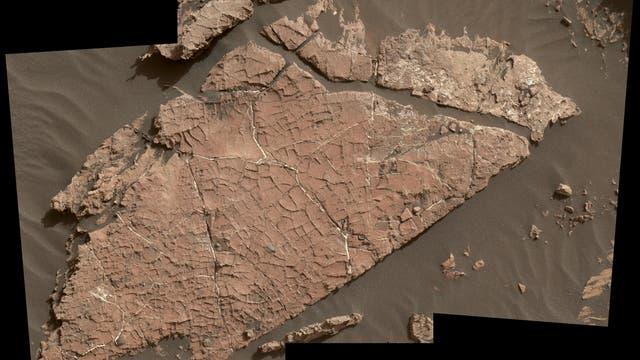 Old-Soaker-Felsplatte auf dem Mars