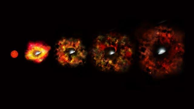 Kollaps eines Riesensterns (künstlerische Darstellung)