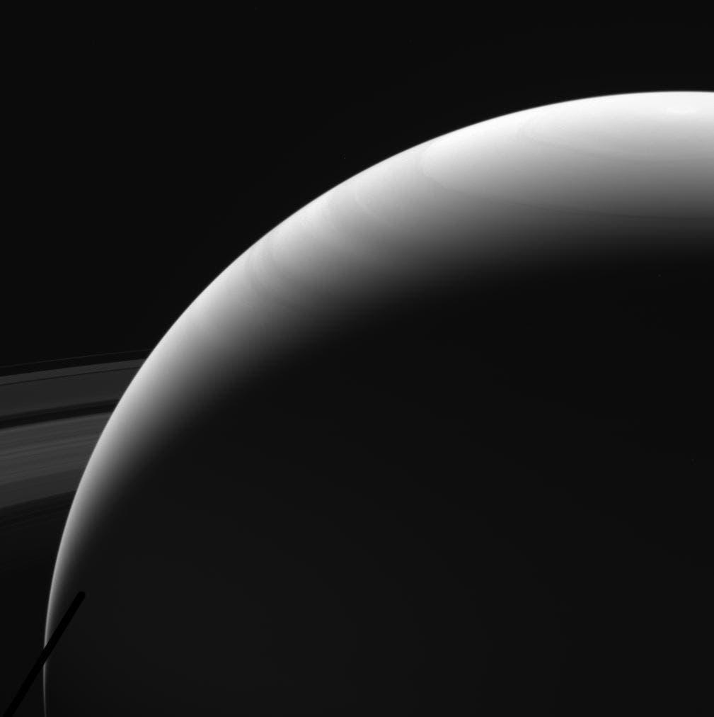 Nördliche Hemisphäre von Saturn