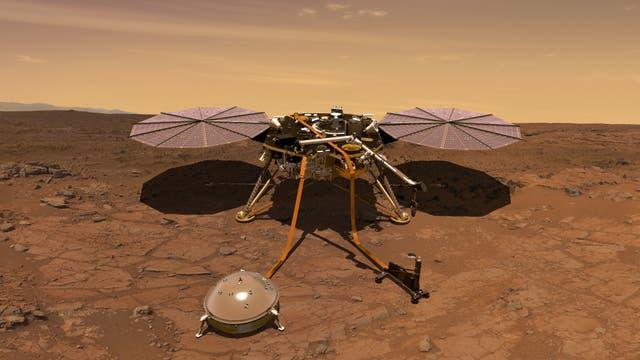 Raumsonde InSight auf dem Mars