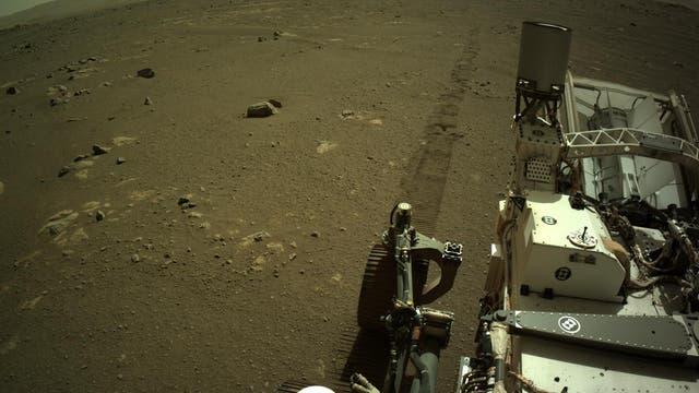 Perseverance rollt über den Mars