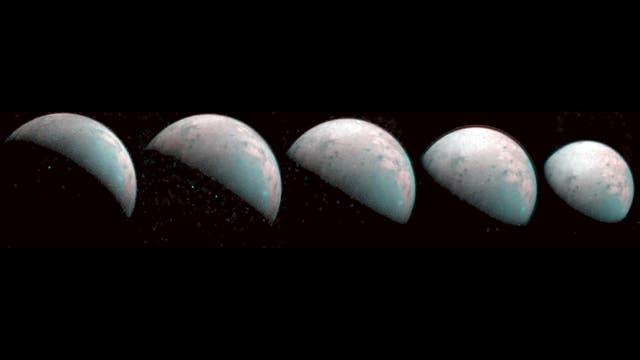 Der Raumsonde Juno sind im Dezember 2019 Aufnahmen vom Nordpol des Jupitermondes Ganymed gelungen.