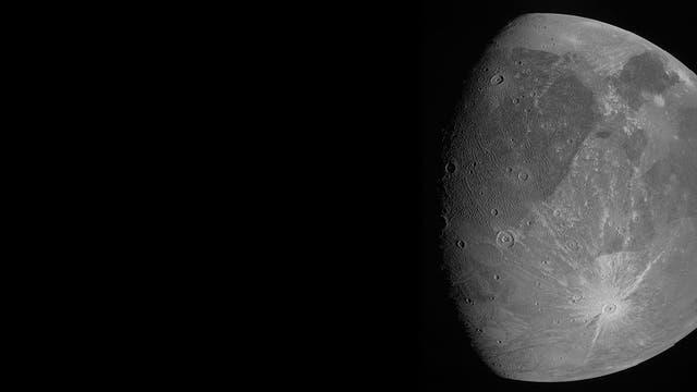 Ganymed in der JunoCam der Raumsonde
