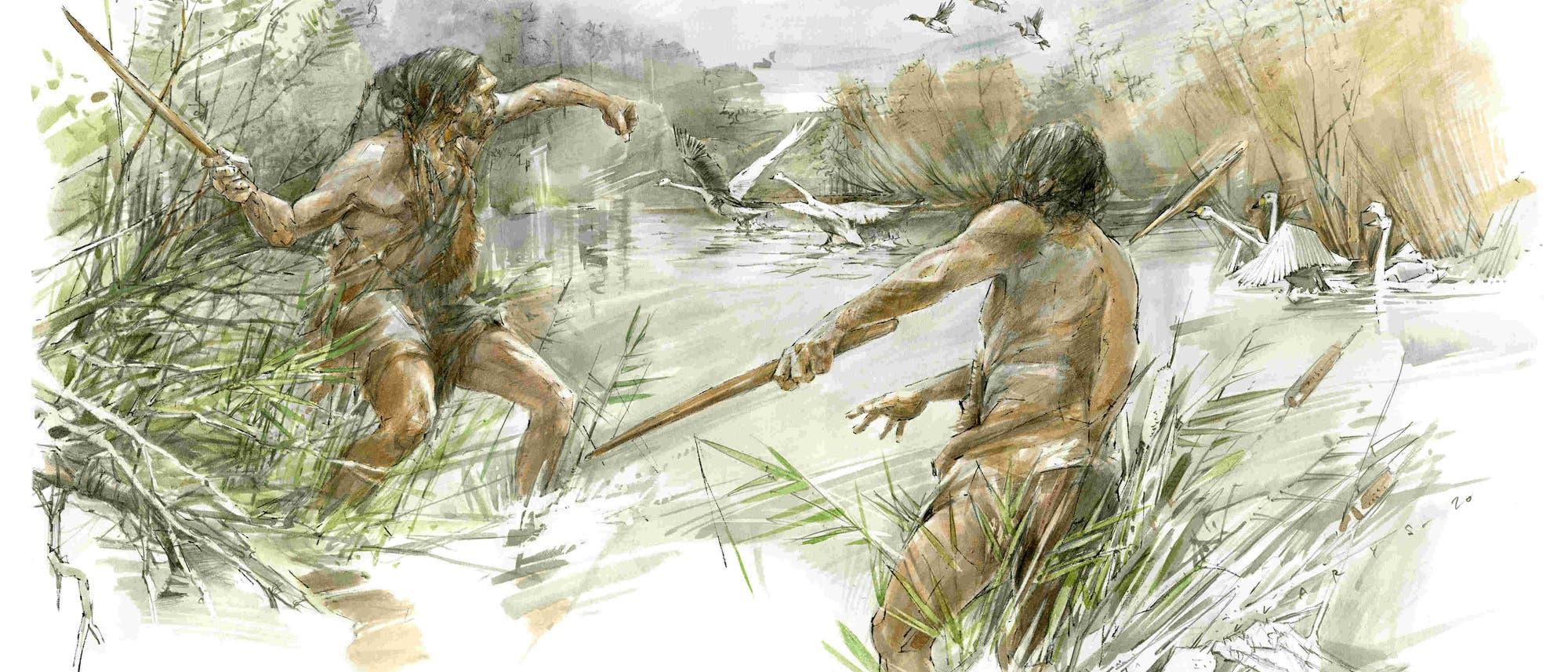 Die Eiszeitjäger setzen den Wurfstock möglicherweise zur Jagd auf Wasservögel ein.