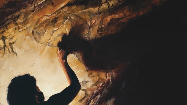 Zeichnung eines Höhlenmalers