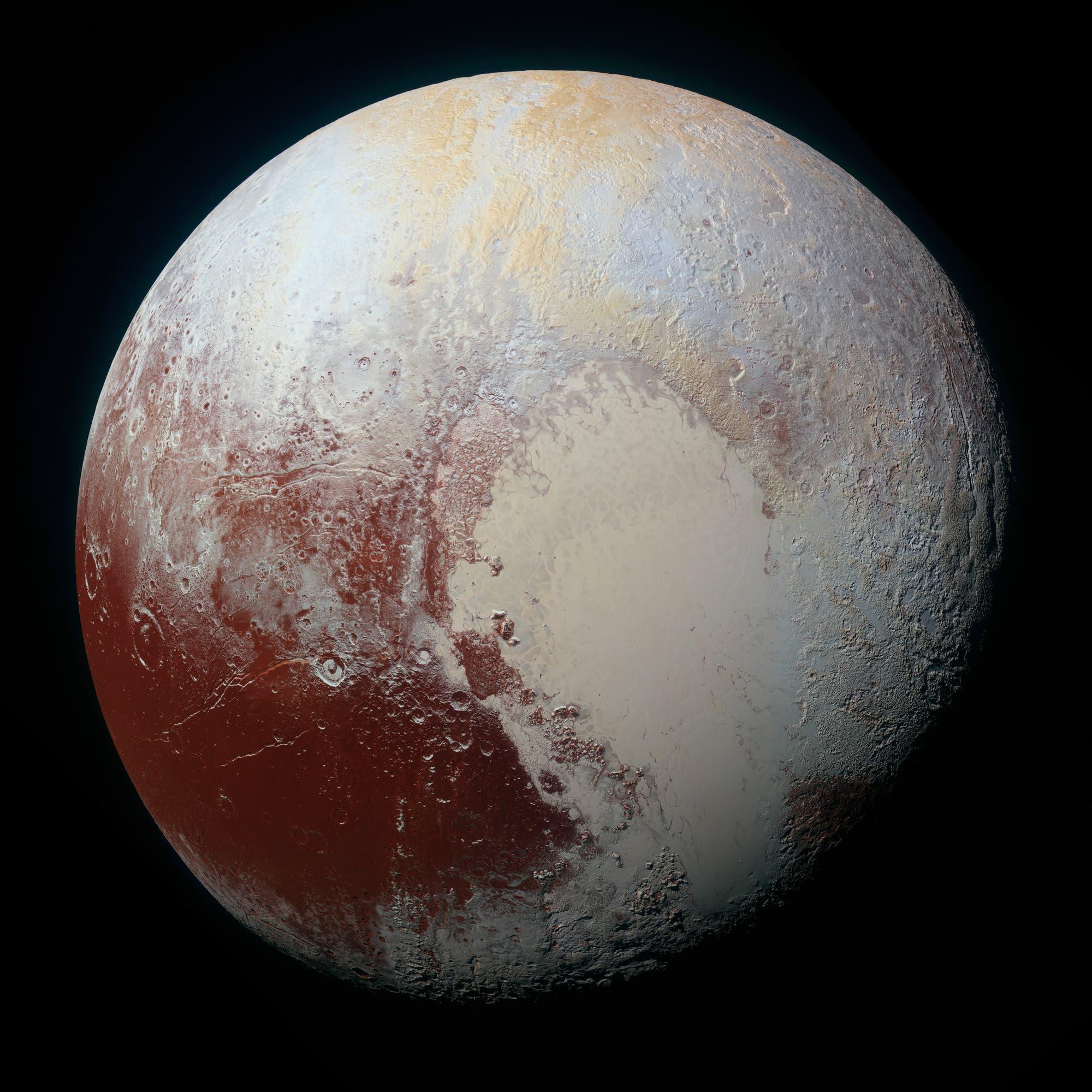 Ein Supermosaik von Pluto (Falschfarben)