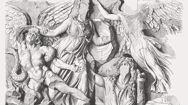 Illustration des Pergamon-Altars (1881)