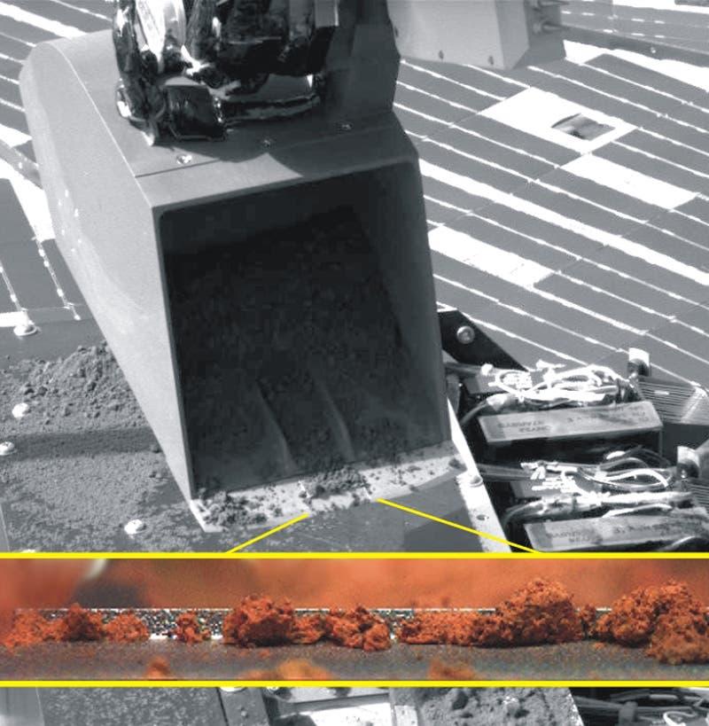 Raumsonde Phoenix: Der Marsboden im Detail