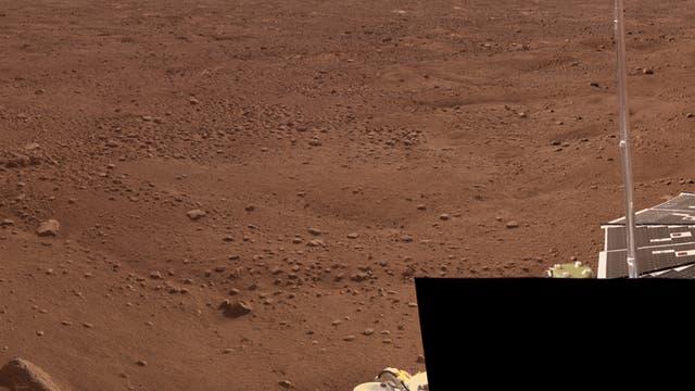 Ausschnitt des ersten Farbpanoramas der Marssonde Phoenix