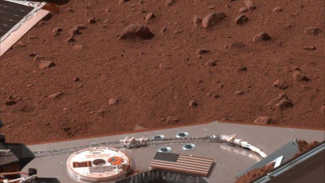 Blick in die Marswüste am Phoenix-Landeplatz