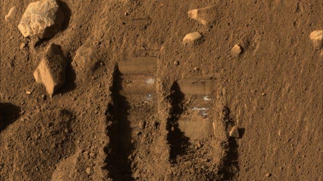 Marssonde Phoenix: Grabaktivitäten auf dem Roten Planeten