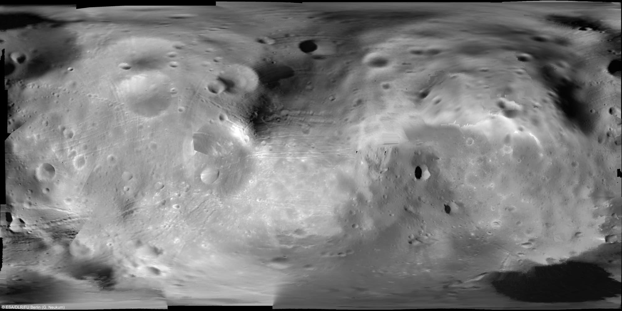 Erste vollständige Karte des Marsmonds Phobos