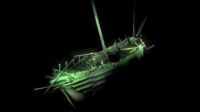 Photogrammetrische Aufnahme des unbekannten Schiffs