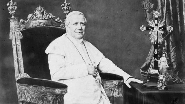 Papst Pius IX. auf einer Fotografie um 1864.