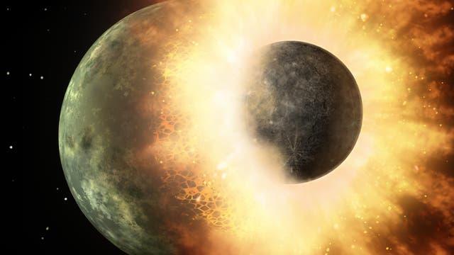 Einschlag als Geburtshelfer des Mondes