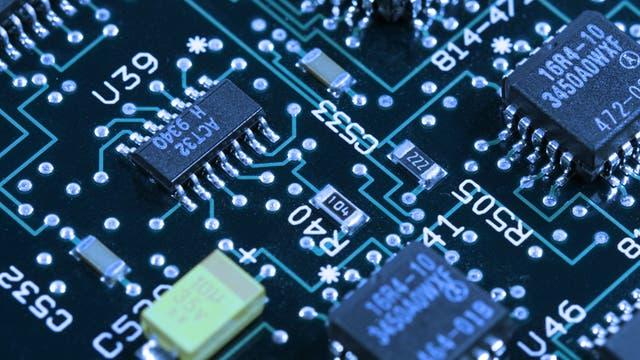 Leiterplatte eines Computers