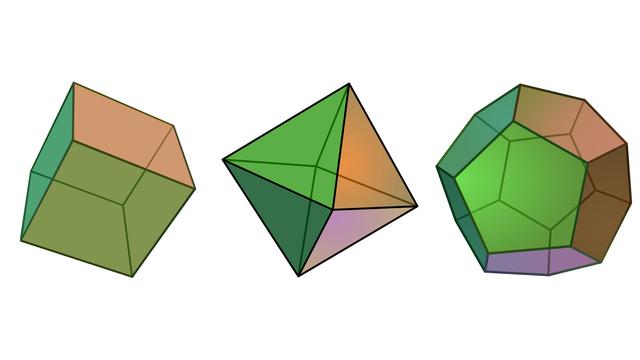 Die fünf platonischen Körper