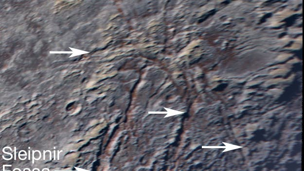 """Die """"Spinne"""" auf Pluto (Ausschnitt)"""