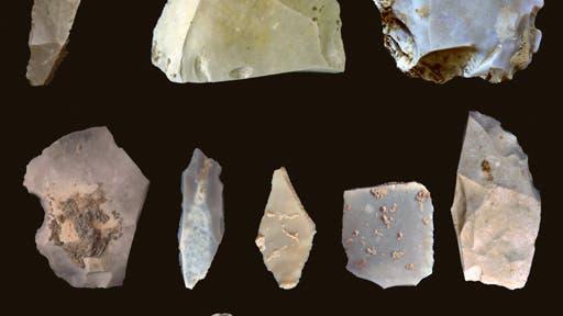 Die gefundenen Steinwerkzeuge